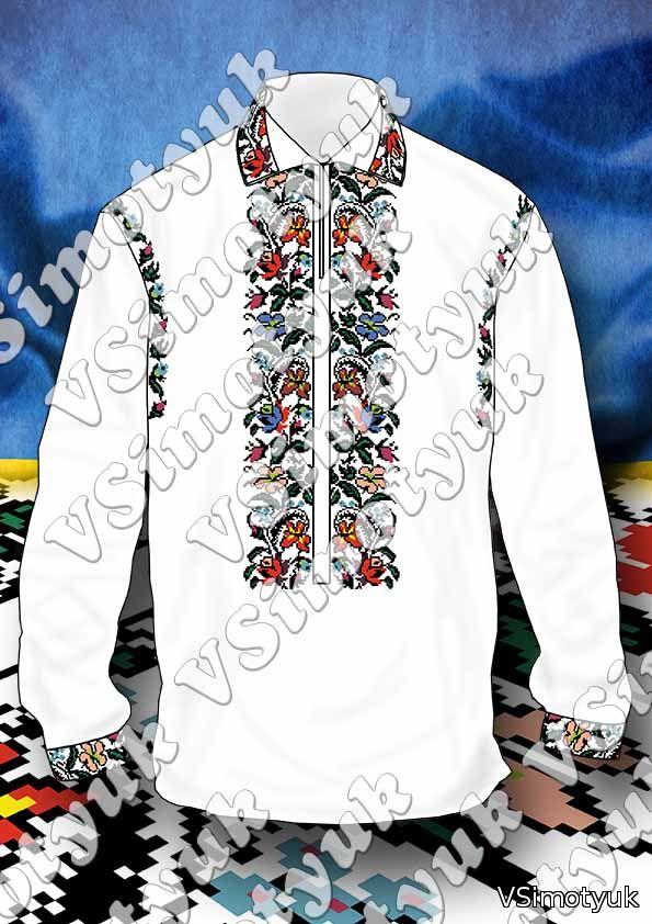 Пропоную схему сучасної вишиванки чоловічої сорочки