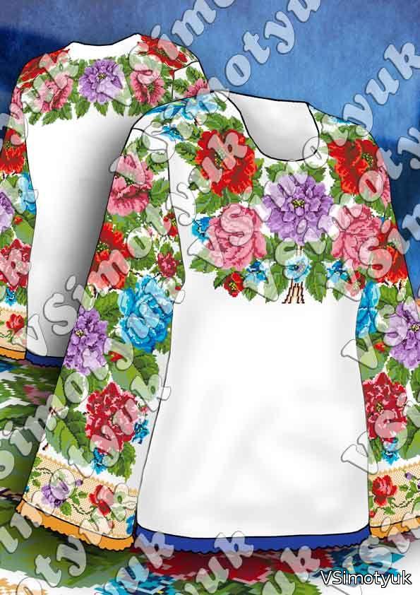 Вишивки хрестиком схеми картини сорочки жіночі