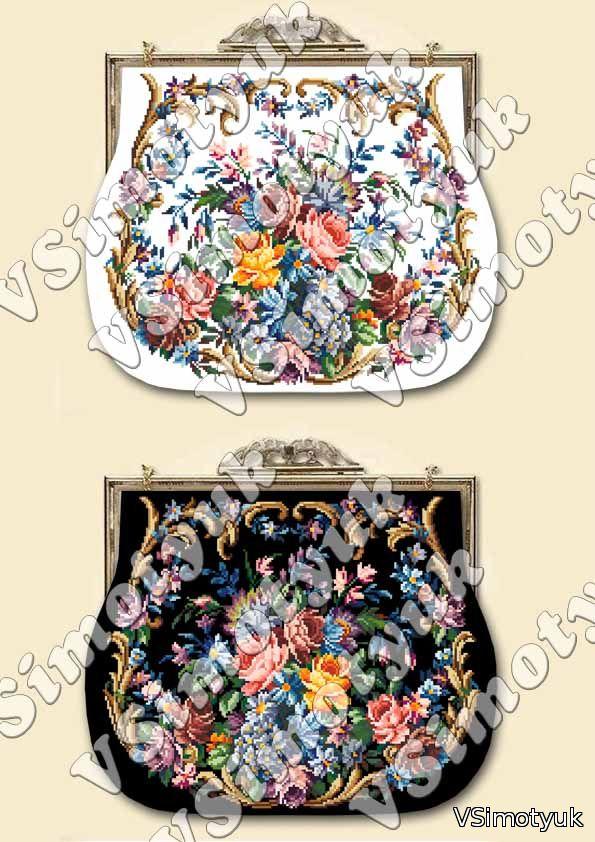 Пропоную схему вишивки хрестиком жіночої сумки. Сподіваюся cdc6b381473f6