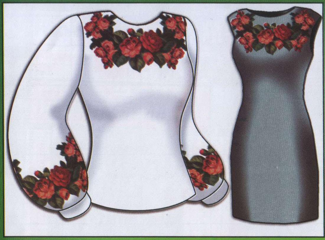 """Пропоную дуже гарну схему жіночої сорочки  """"Троянди """".  Жіноча сорочка  """"Троянди """".  Категорія.  Схеми вишивок хрестиком."""